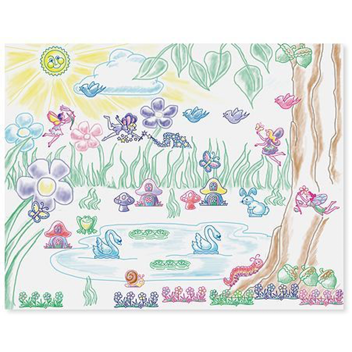 Scene drawing garden. Melissa doug stamp a