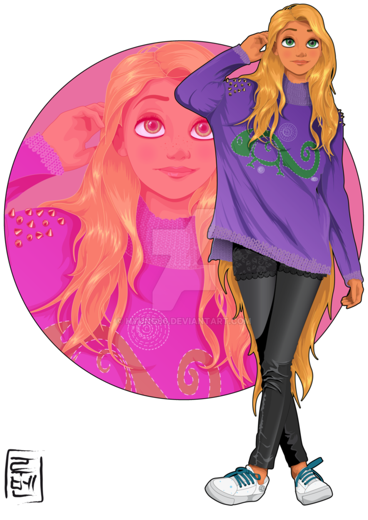 Scene drawing tangled. Disney university rapunzel by