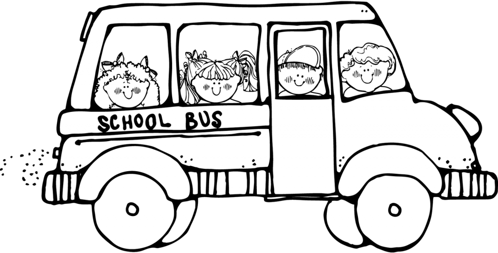 Scene drawing thanksgiving. Collection of free bus
