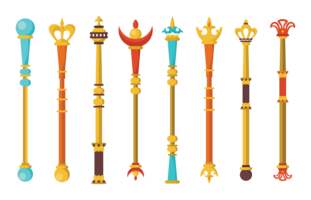 Scepter vector sceptre. Royal collections download free