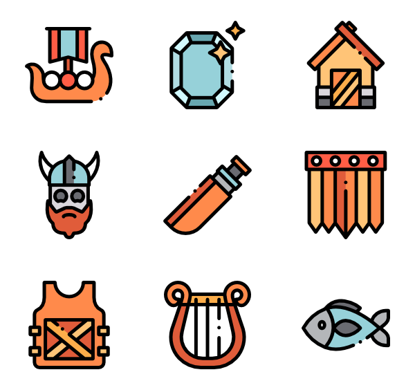 Scepter vector greek. Antique icons free viking