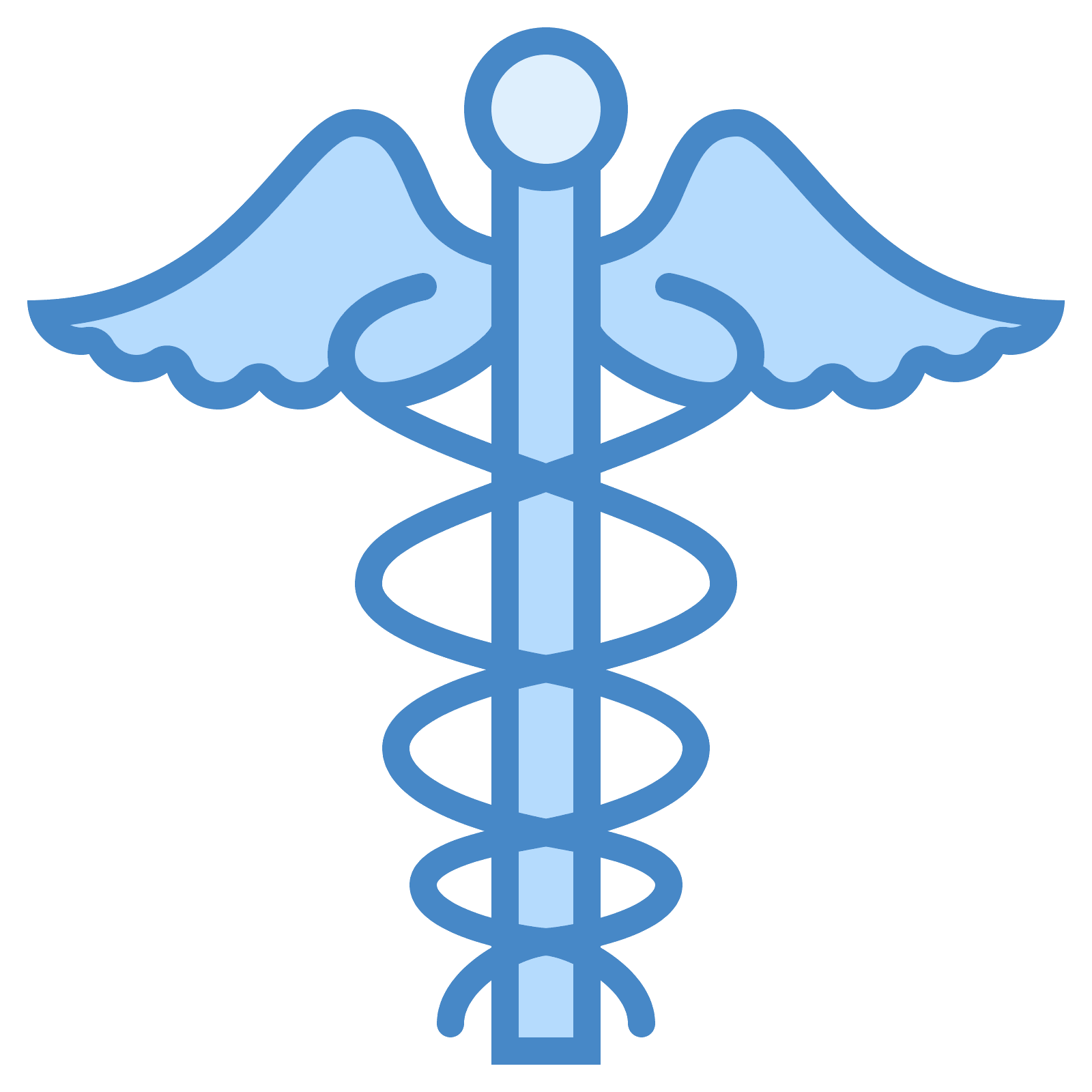Scepter vector greek. Caduceus icon free download