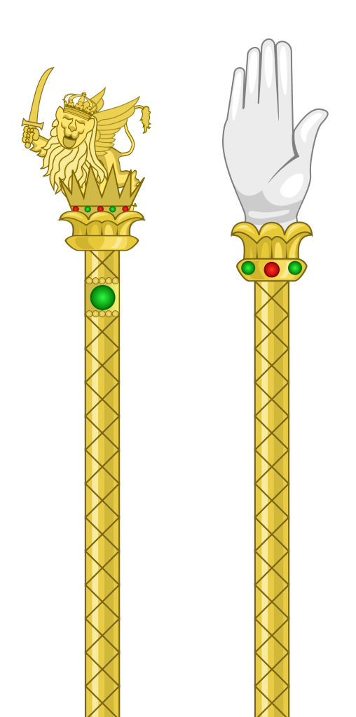 Scepter vector sceptre. File and hand of