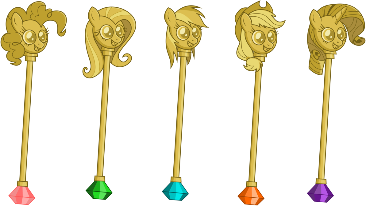 Scepter vector sun. The cane six by