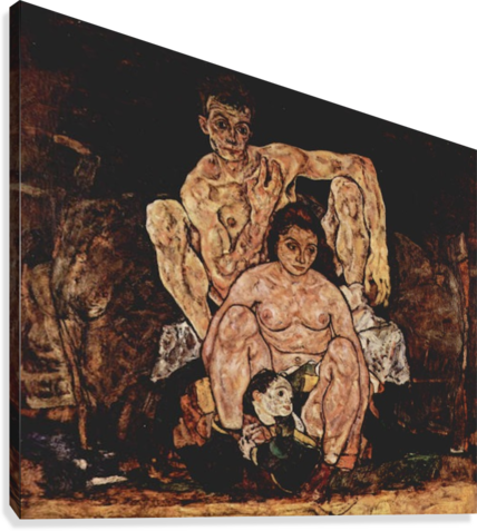 Schiele drawing sister. The family by egon