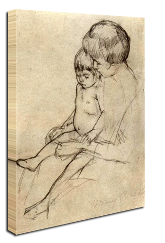 Schiele drawing paper. Mother and child photos