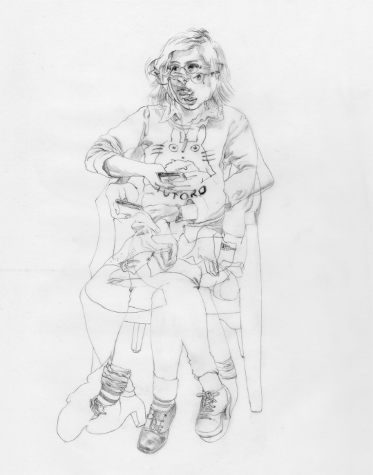 schiele drawing oil