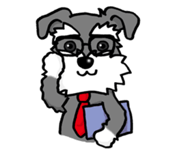 Schnauzer vector. Brings you happiness line