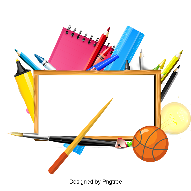 School background png. Of supplies clipart ppt