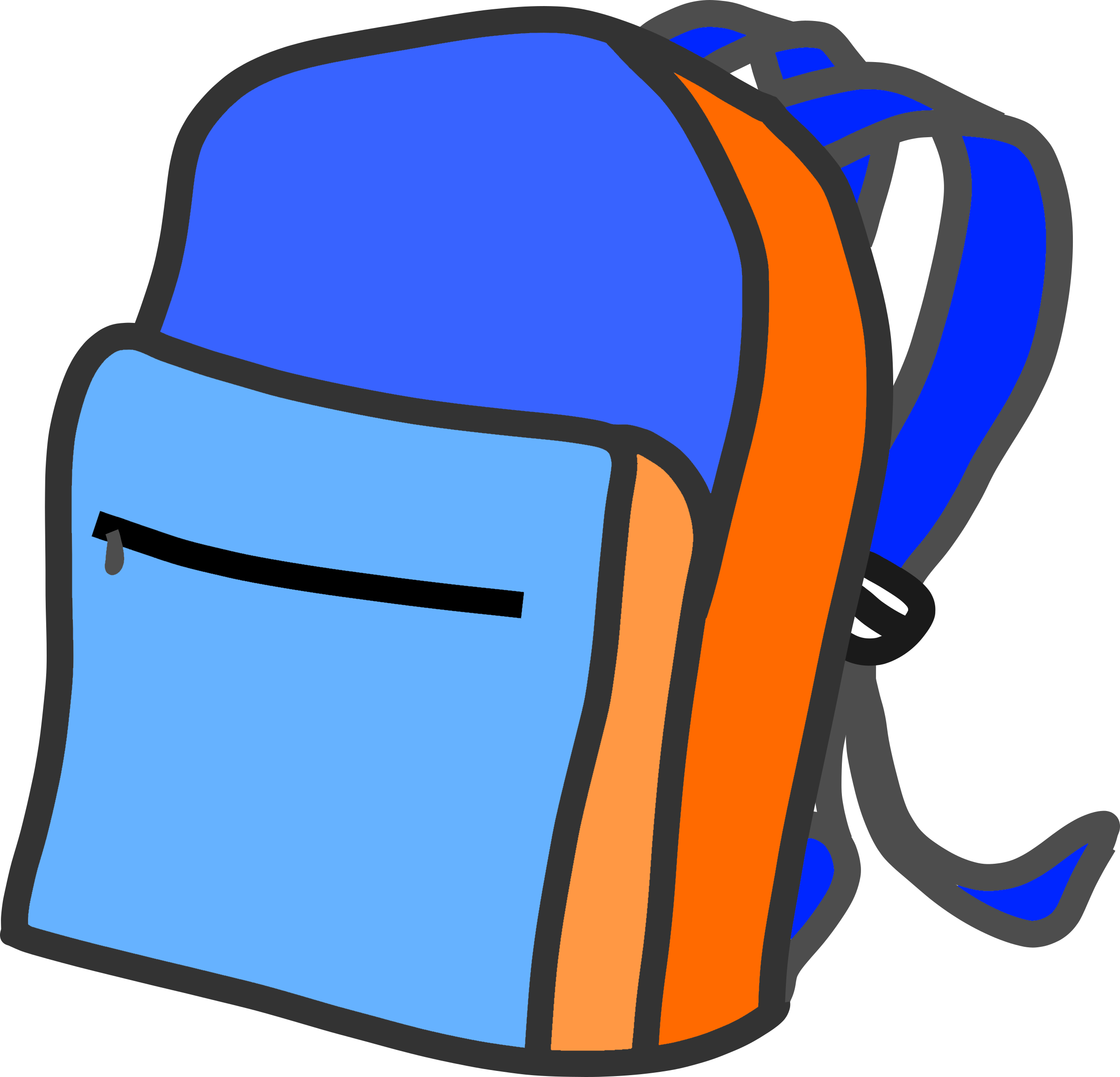 School clip backpack. Icons png free and