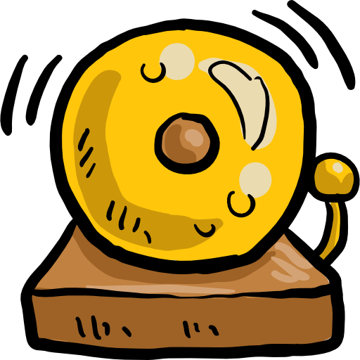 School bell png no background. Icon svg