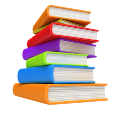 Stack of school books png. Book image