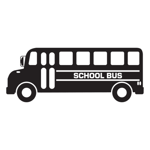 File vector bus. School graphic icon transparent