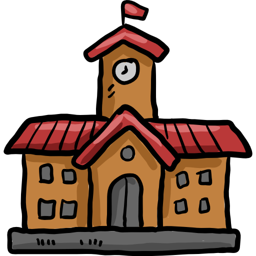 School cartoon png. College high architecture and