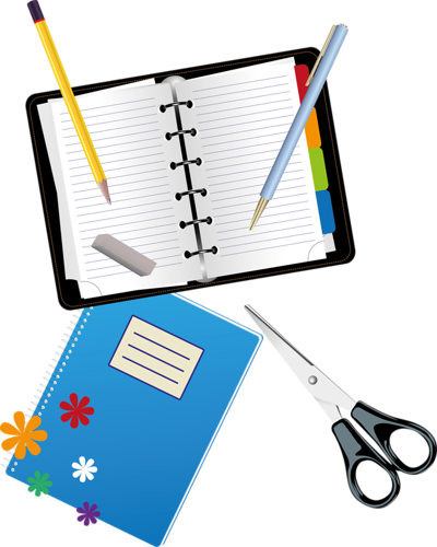 School clip stationary. Supplies png office and