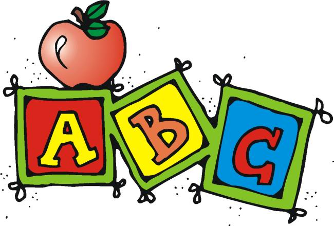 Abc . School clipart image black and white download