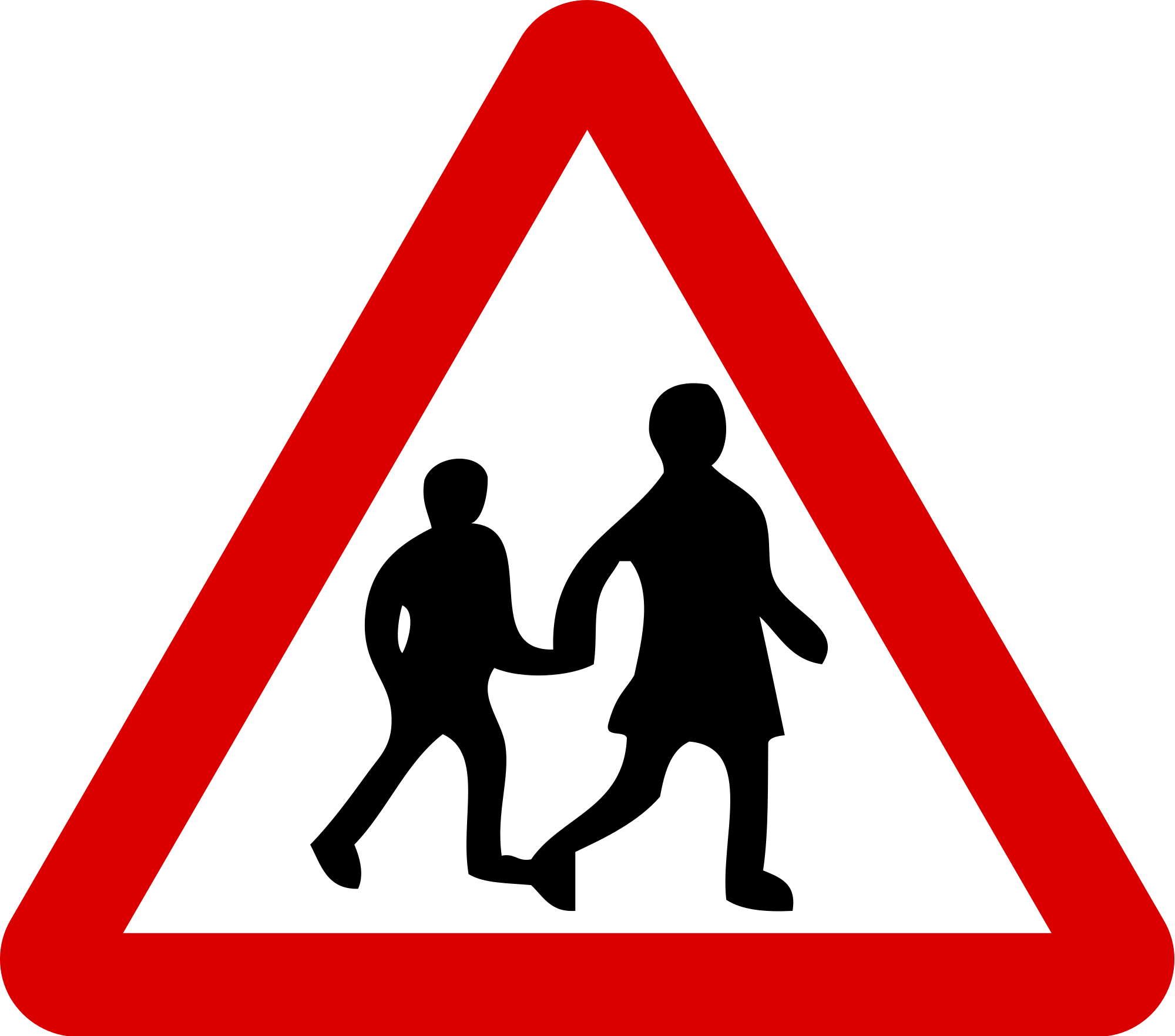 Roadsign vector drawing. Road sign silhouette at