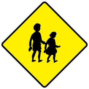 School sign png. File w ahead warning