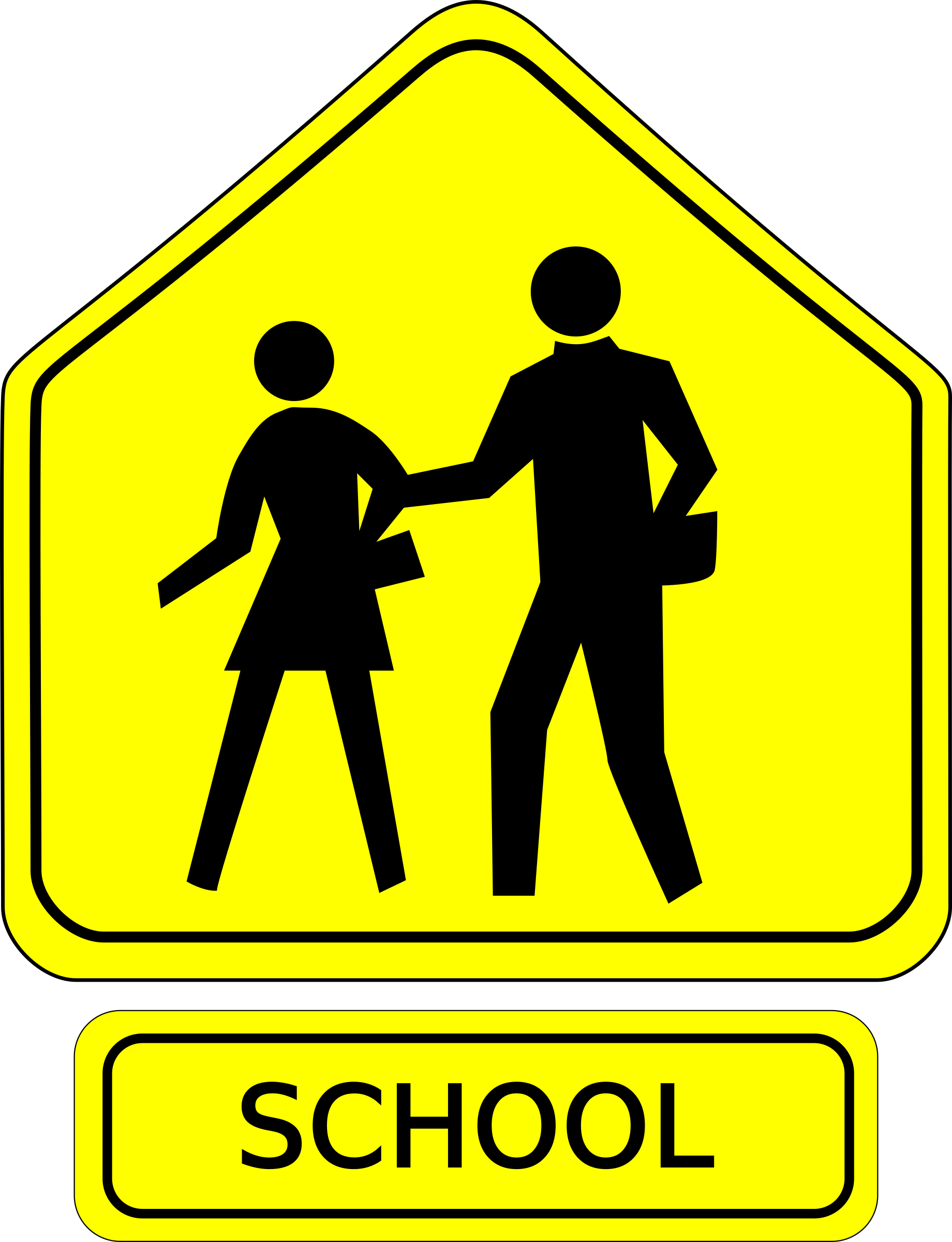 School sign png. Crossing caution icons free