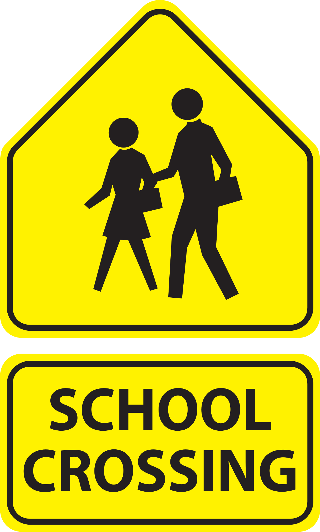 School sign png. Crossing signs icons free