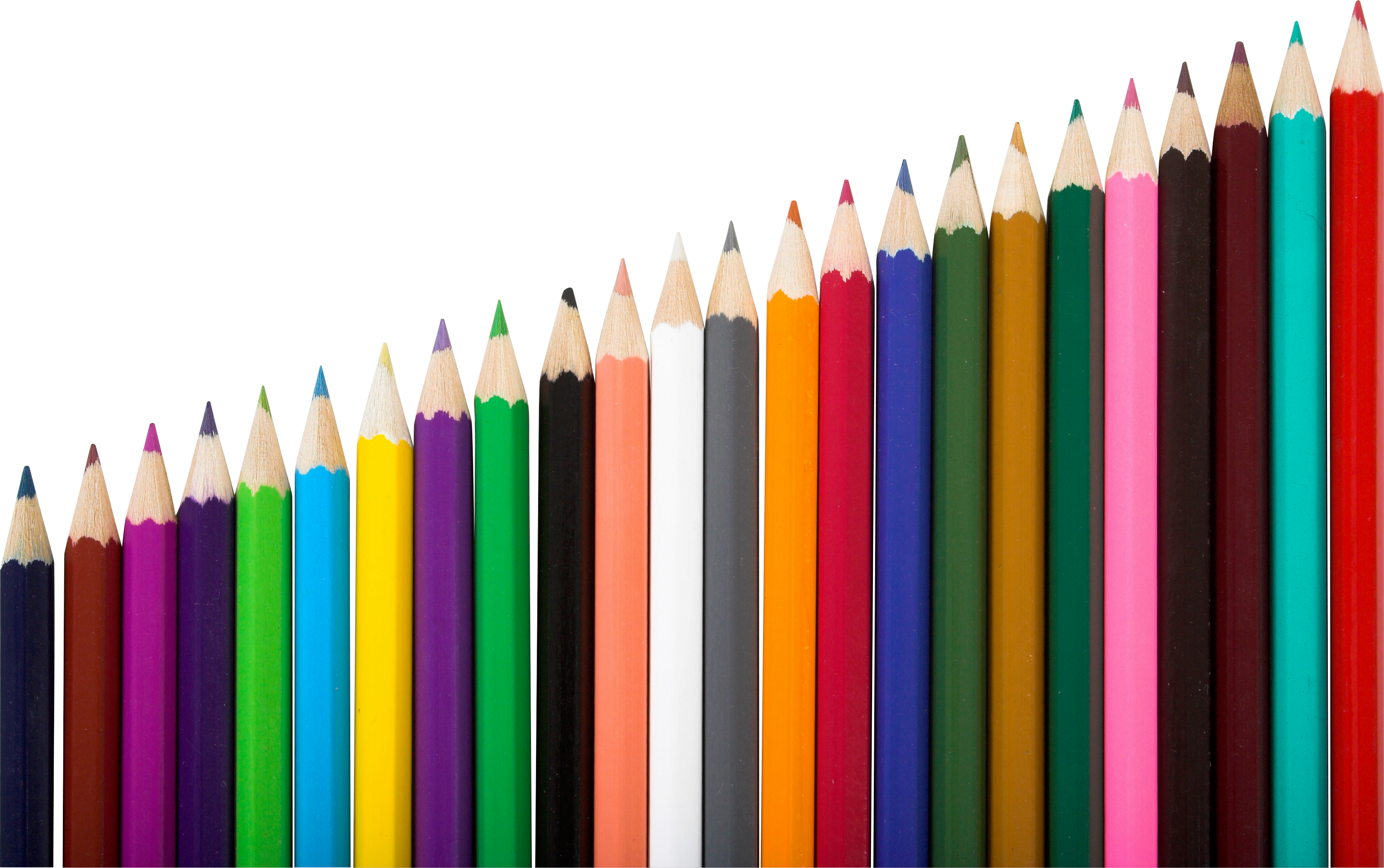 School supplies background png. Pencils six isolated stock