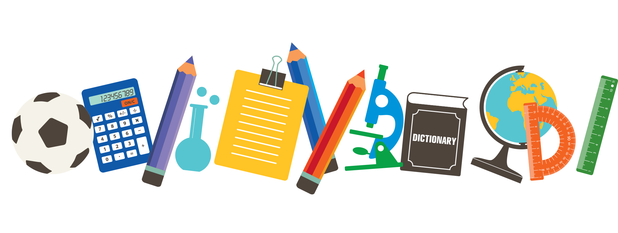 School supplies png. Material transprent free download