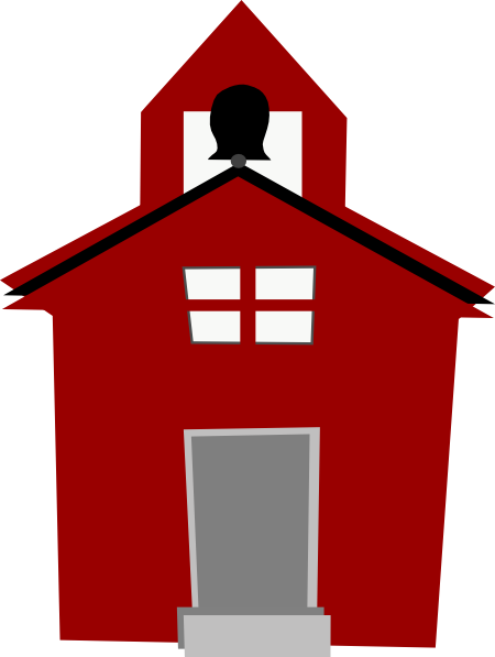 Schoolhouse clipart. Red clip art at
