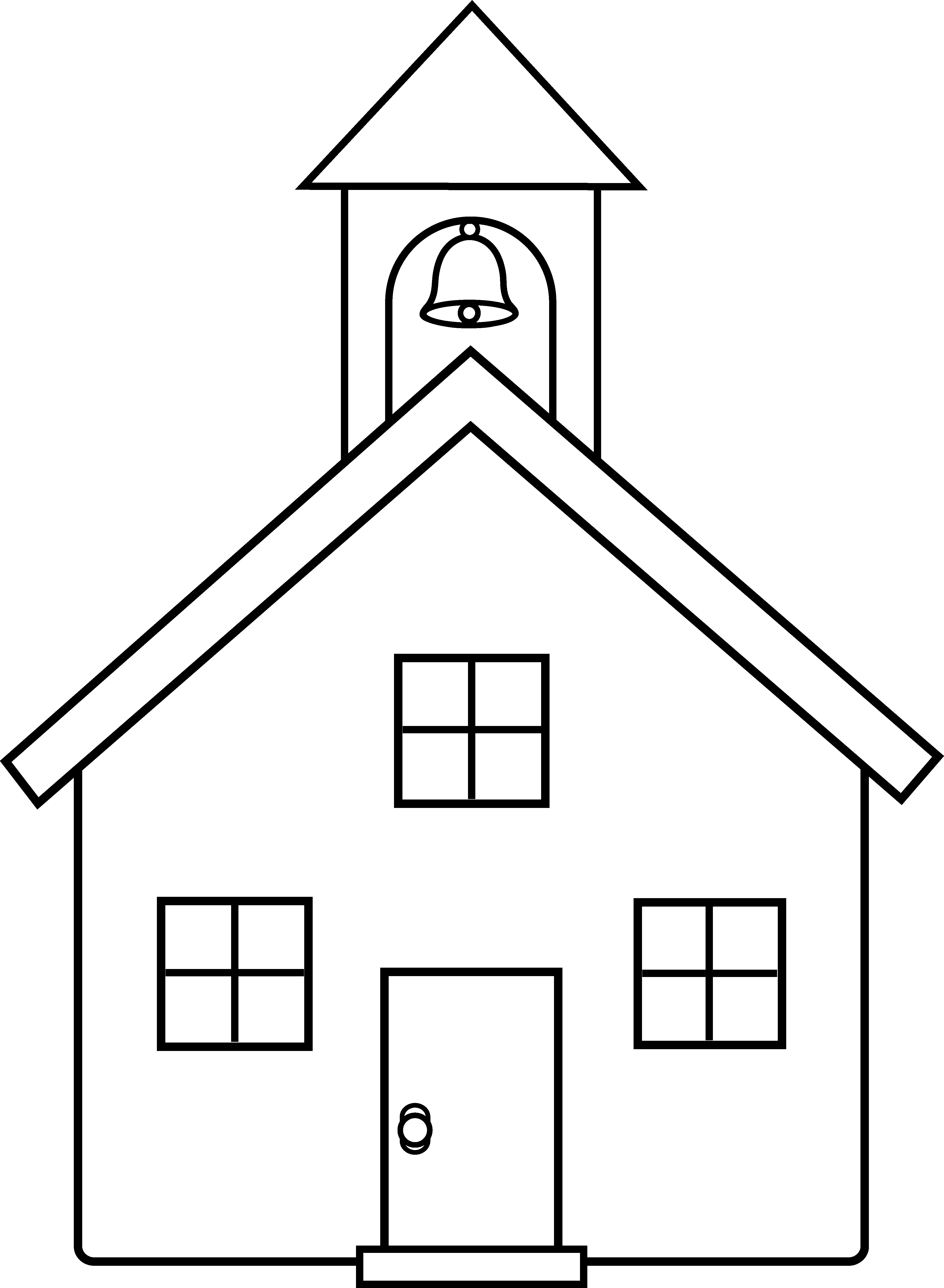 Schoolhouse vector. School house line art