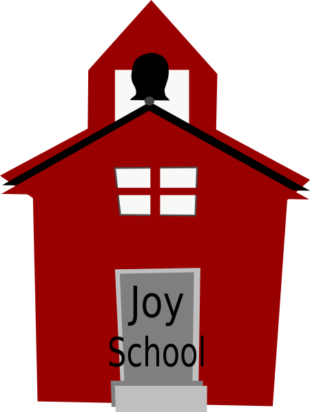 Schoolhouse vector. Red clip art at