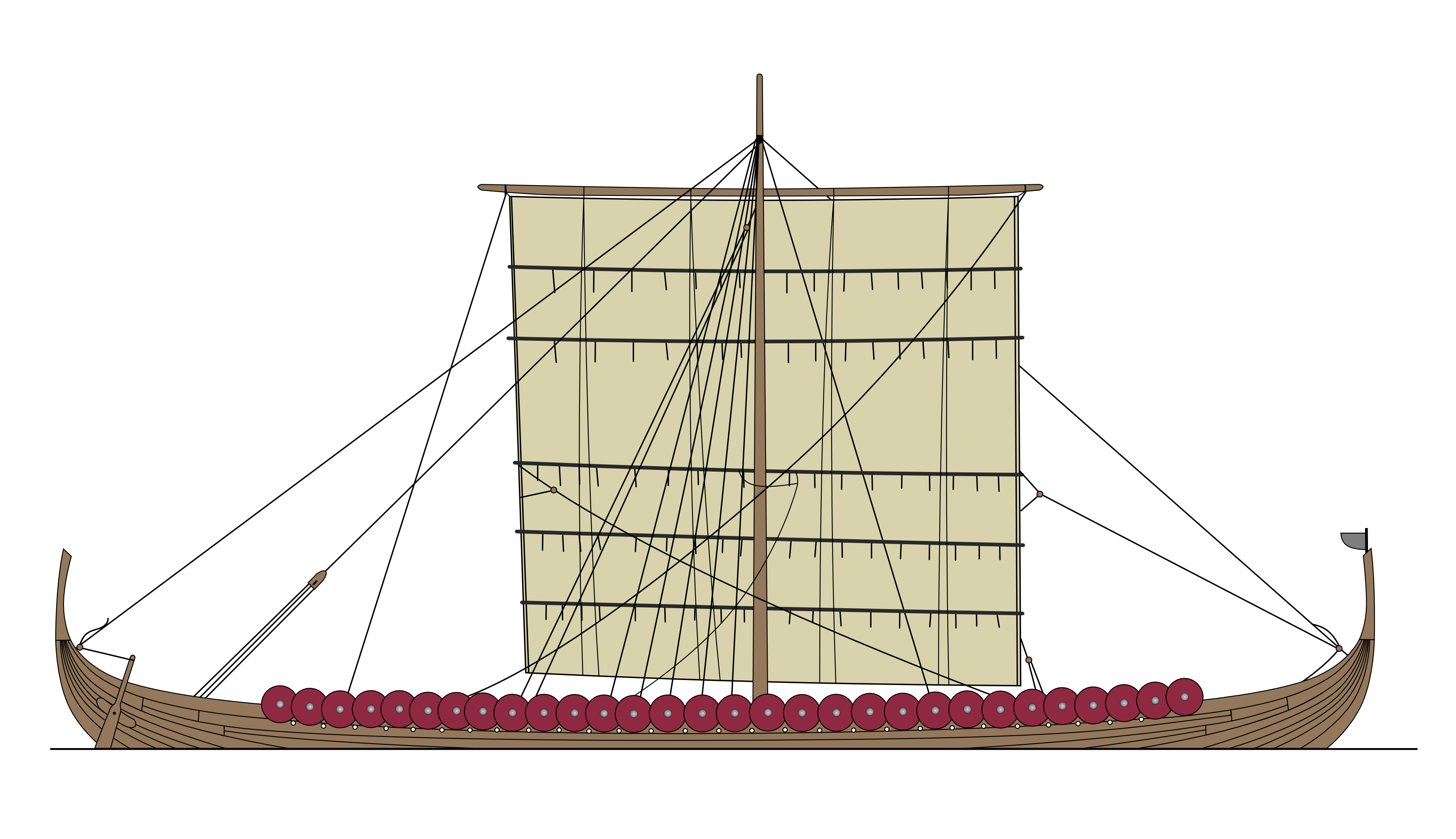 port drawing sea