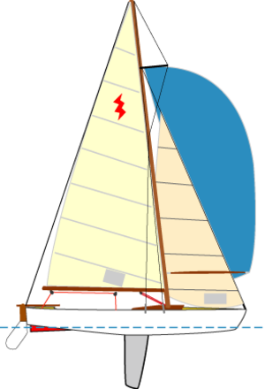 Schooner drawing keelboat. Laser vago wikivisually lightning
