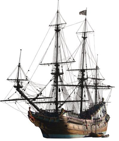 Schooner Drawing Old Wooden Ship Transparent & PNG Clipart Free