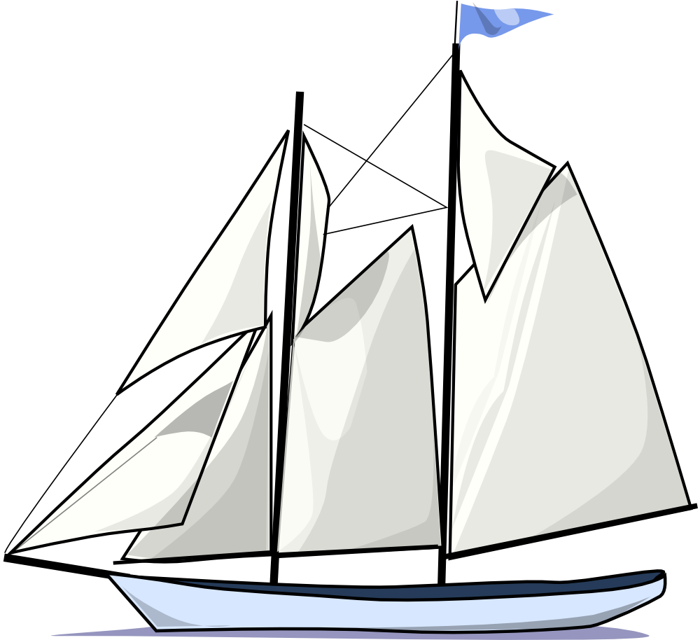 Schooner drawing perspective. Onlinelabels clip art boat