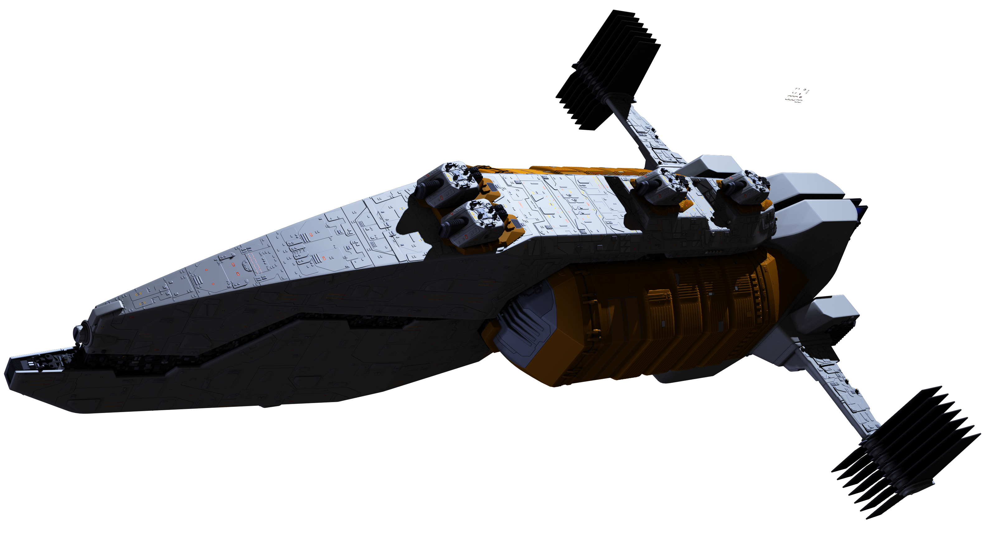 Sci fi ship png. D max tests
