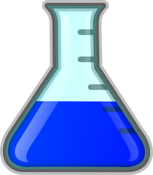 Science flask png. Blue clip art at