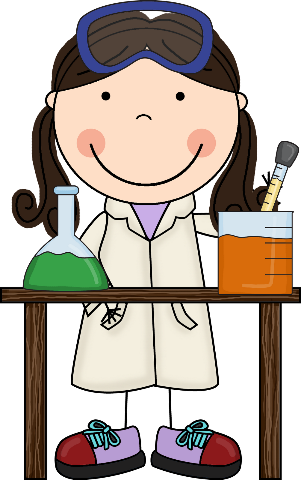 Science clipart kindergarten. Little miss hypothesis looks