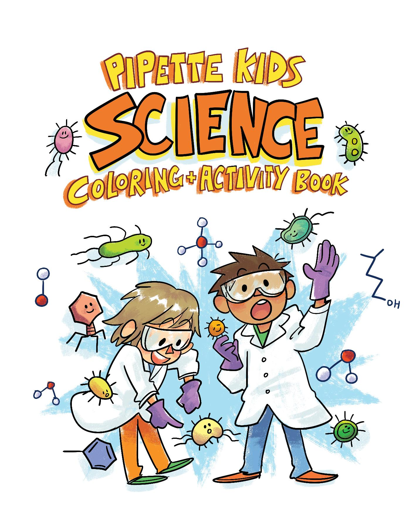 Science clipart science book. The pipette kids coloring
