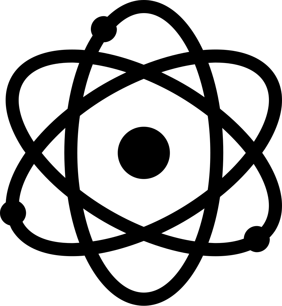 Science symbol png. Atom svg icon free