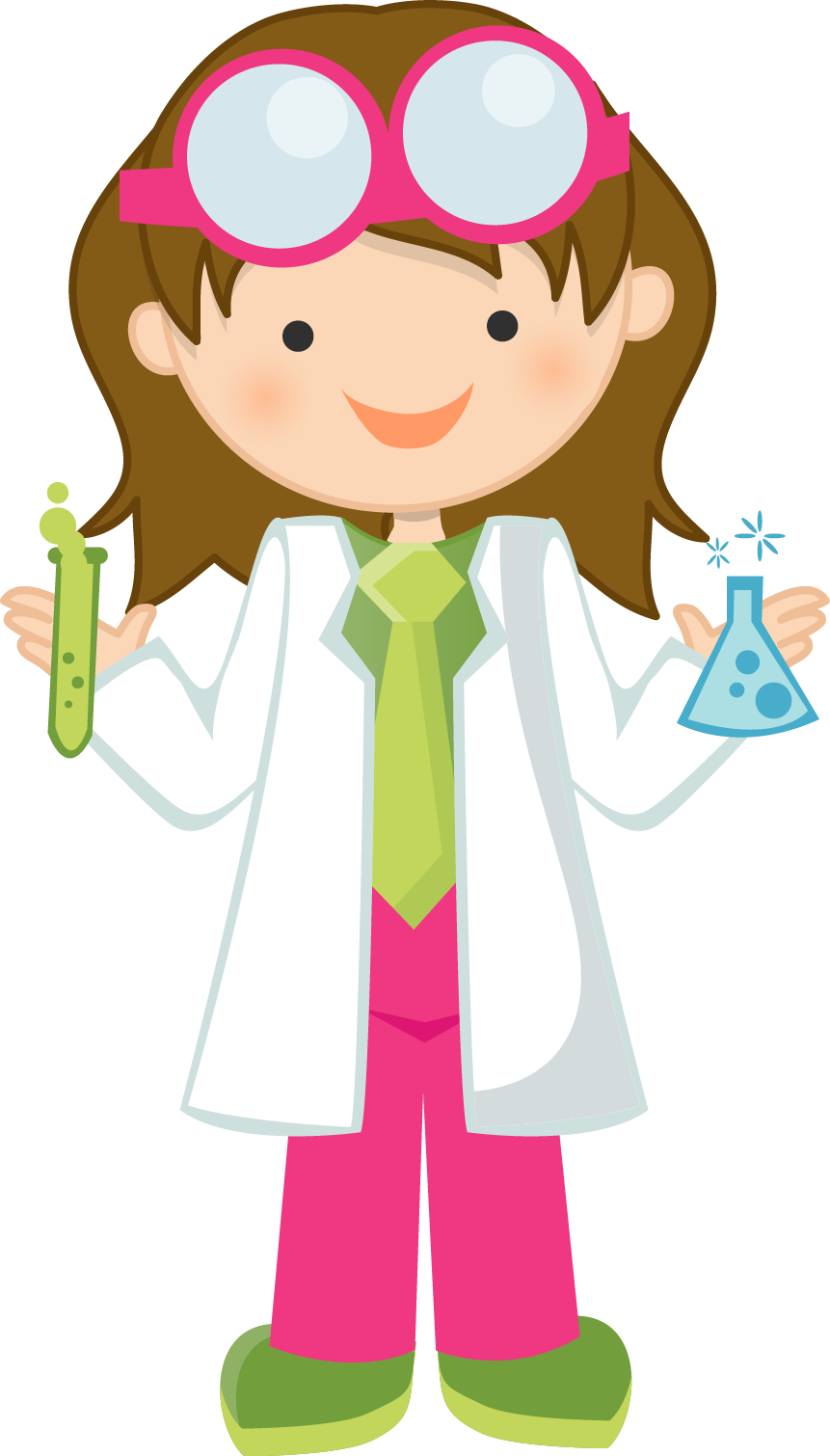Scientist clipart easy. Girl free science fun