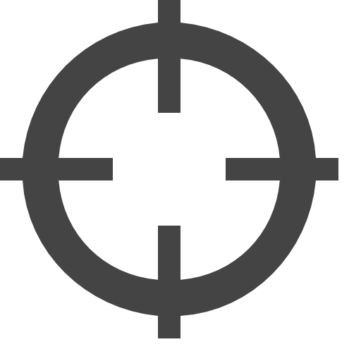 Scifi vector crosshair. Icon free of vaadin