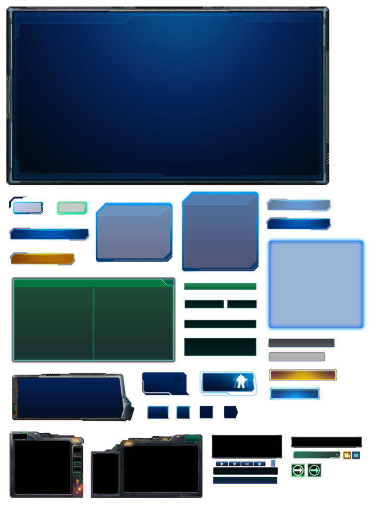 Scifi vector game ui. Starcraft by atanichi on