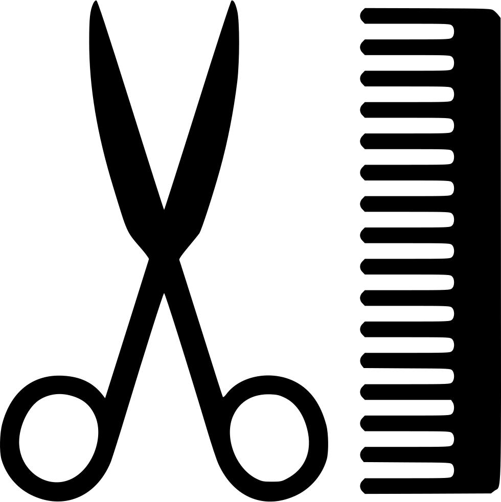 Scissors and comb png. Svg icon free download