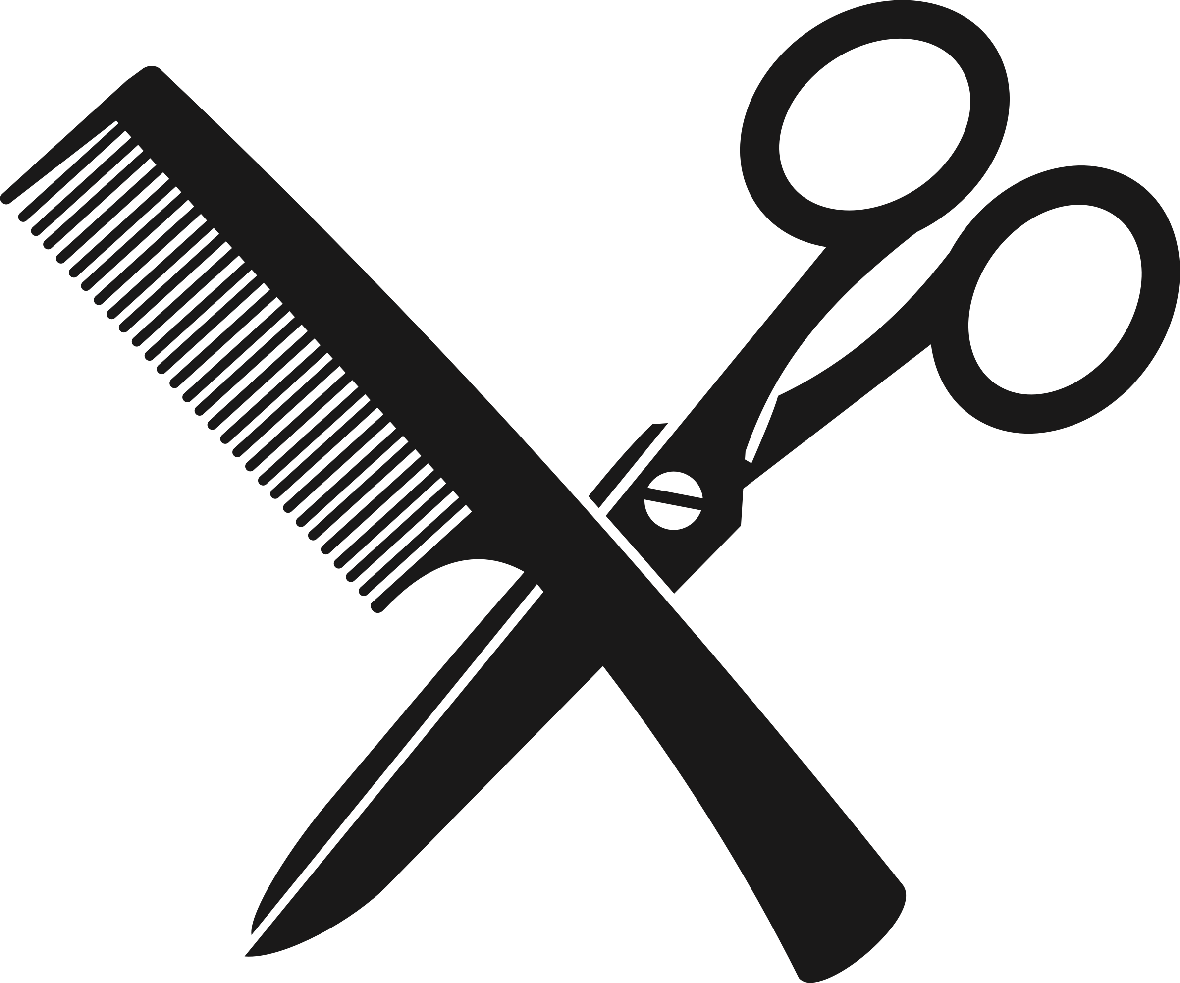 Scissors and comb png. Barber beauty parlour download
