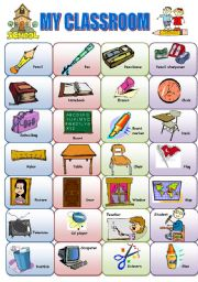 Scissors clipart classroom object. English exercises items my