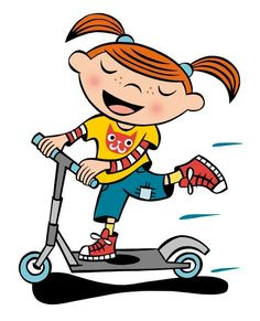 Scooter clipart. Image result for girl