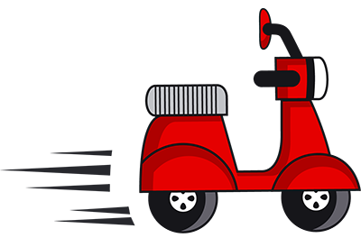 Scooter clipart delivery scooter. Faq rental center