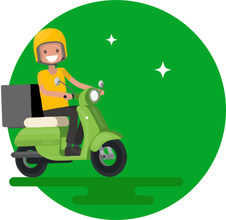 Scooter clipart delivery scooter. Home run same day