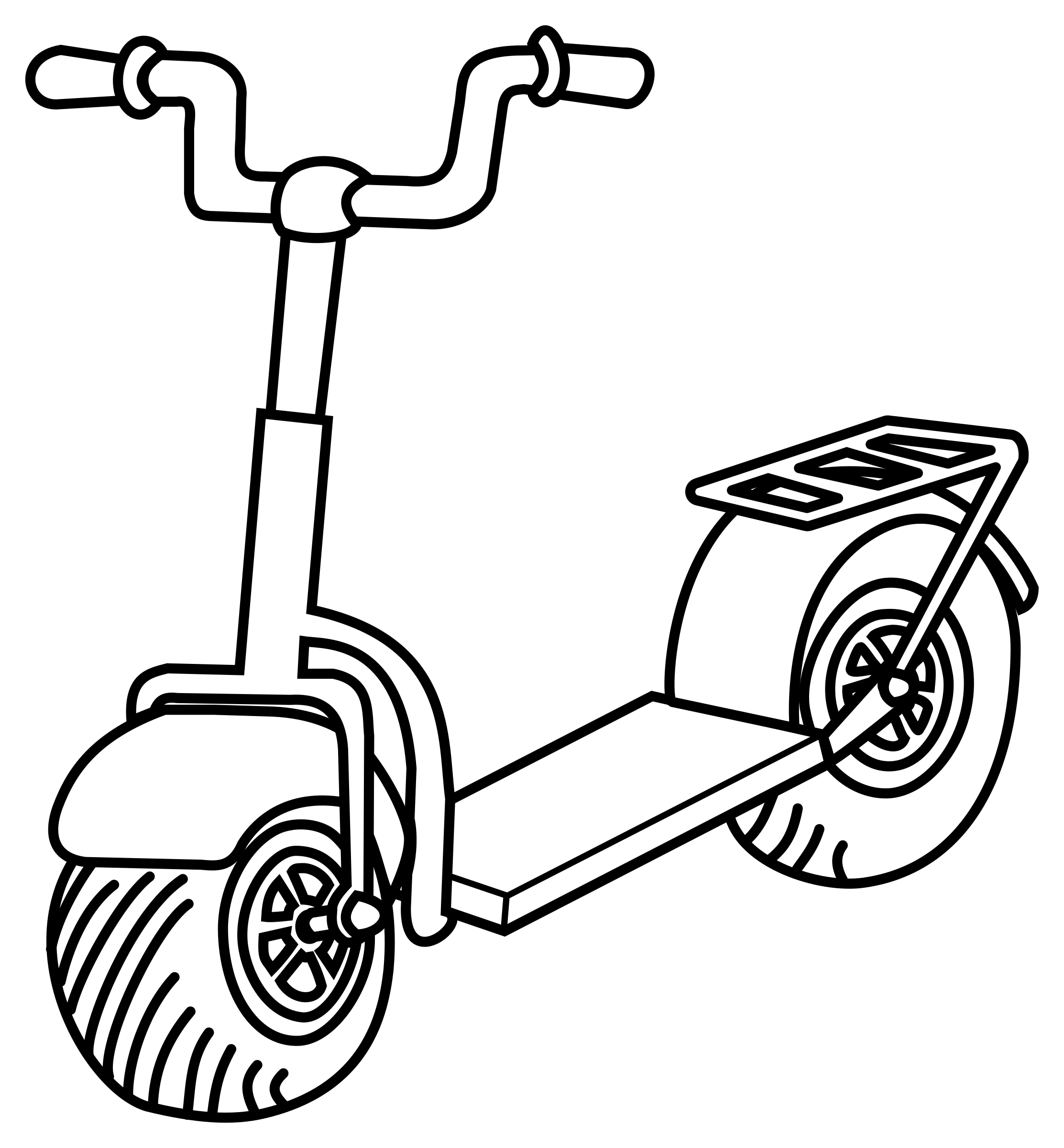 Scooter clipart pink scooter. Free wheel cliparts download
