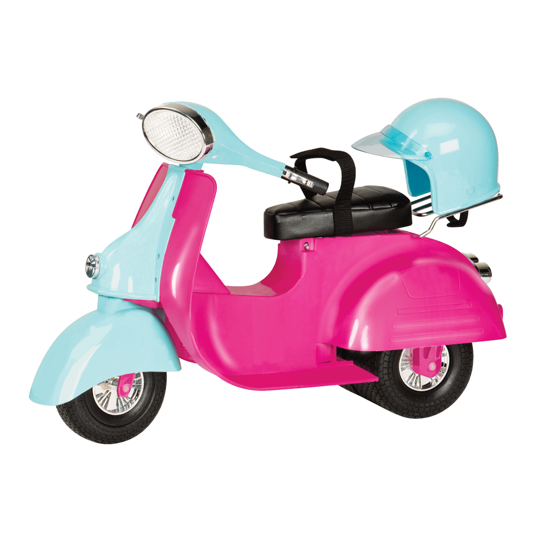 Scooter clipart pink scooter. Doll vehicles cars scooters