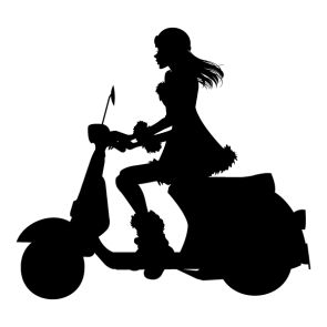 Scooter clipart silhouette. At getdrawings com free